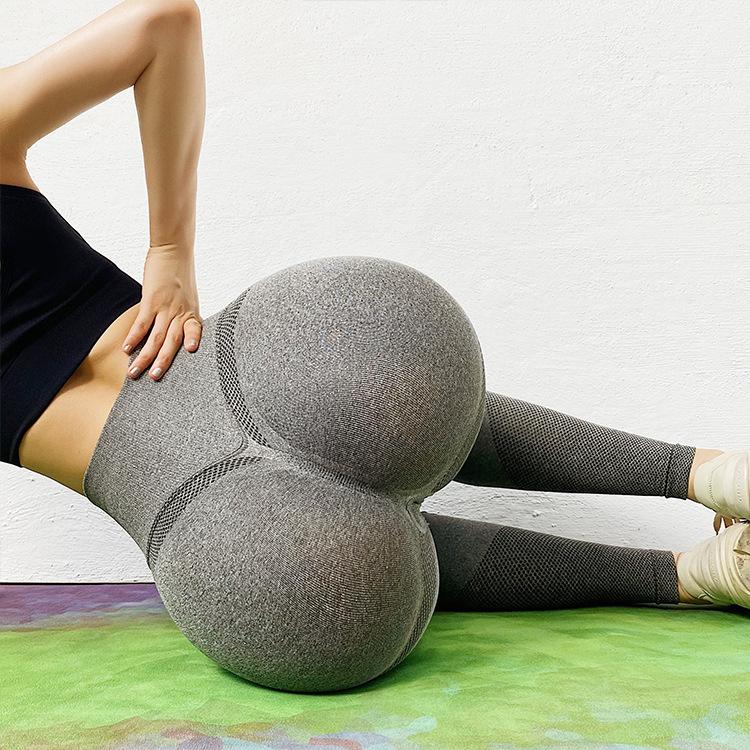 Wholesale Custom Logo Butt Lift Training workout push up smile design seamless leggings for womens