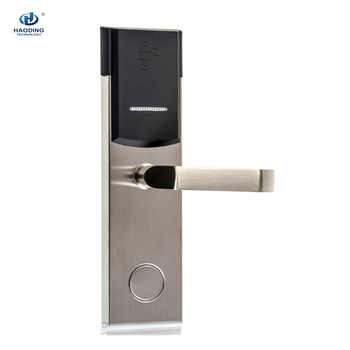 Best Security Popular Electronic Keyless Swipe Key Card RFID Hotel Door Lock with Management Software