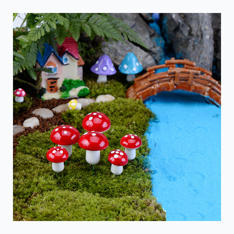 Simulation Plant <strong>House</strong> Colorful Small Mushroom Accessories Moss &amp; Foam Mushroom for Garden Potted Bonsai Display