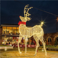 3D Commercial Street Outdoor Christmas Display Decorative LED Reindeer Motif Lights