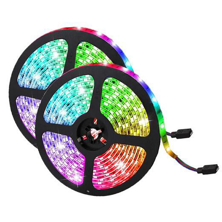 5m 12v 24v 16.4ft 60d waterproof smd 5050 rgb led strip light