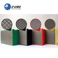 Factory price 90mm*55mm flat back electroplated diamond hand sanding block sponge