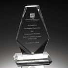 Clear Honorable blank plaque crystal award trophy for customer