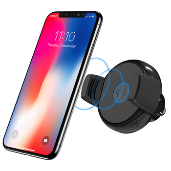 E-packet Free Shipping RAXFLY New Universal 10W Qi Fast Charging Car Mount Mobile Phone Holder Wireless Charger