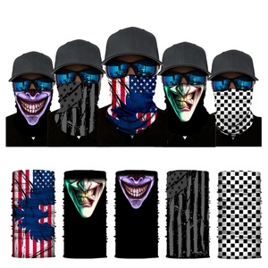 Promotional Elastic Cycling Skull Seamless Bandana Scarf Customize Durag Neck Warmer/Gaiter