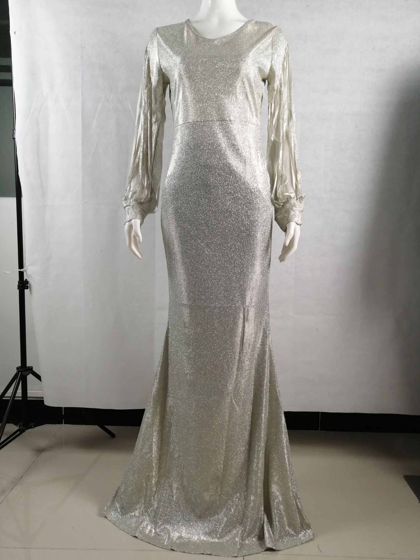 Hot sale elegant v-neck sequins sexy tassels sleeve bodycon Birthday party dress evening dresses FM-QZ190720