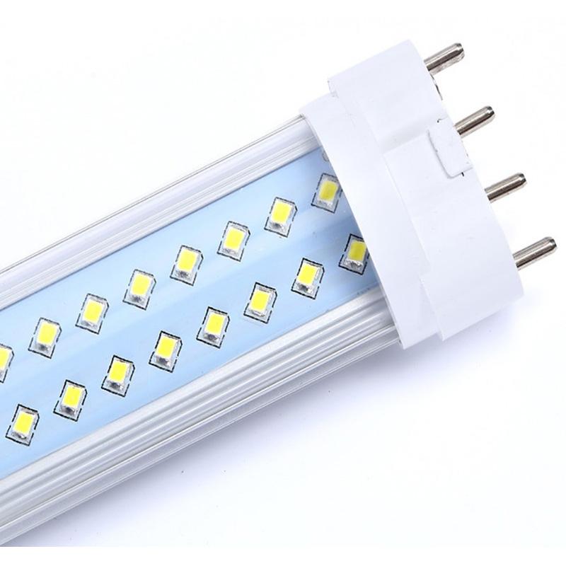 High bright 2G11 SMD 4 pin pl led tube light H type Retrofit Horizontal plug lights 18w energy saving 1.2m batten fluorescent