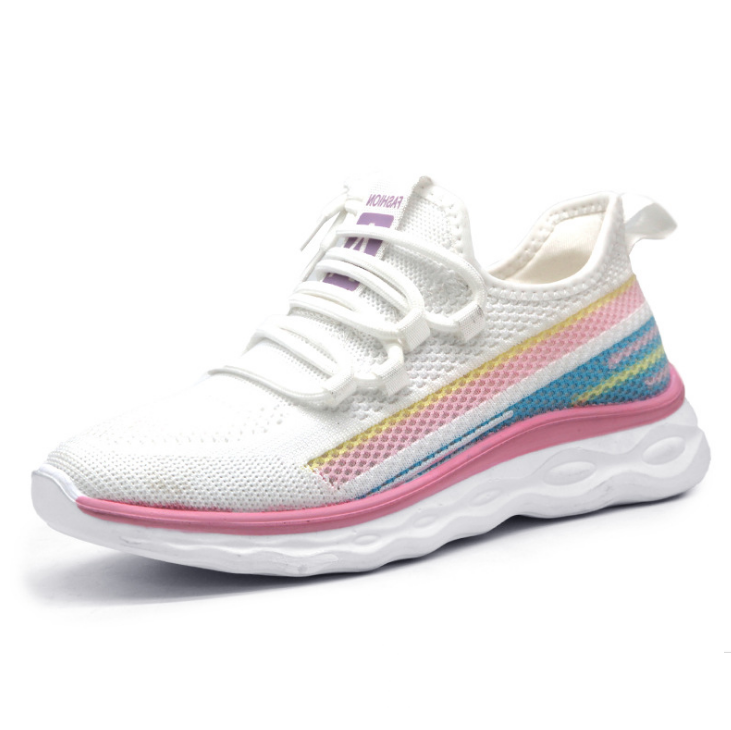 2022 new fashion light weight women lady student fashion trend cool running tennis shoes sneakers PU sole jacquard upper