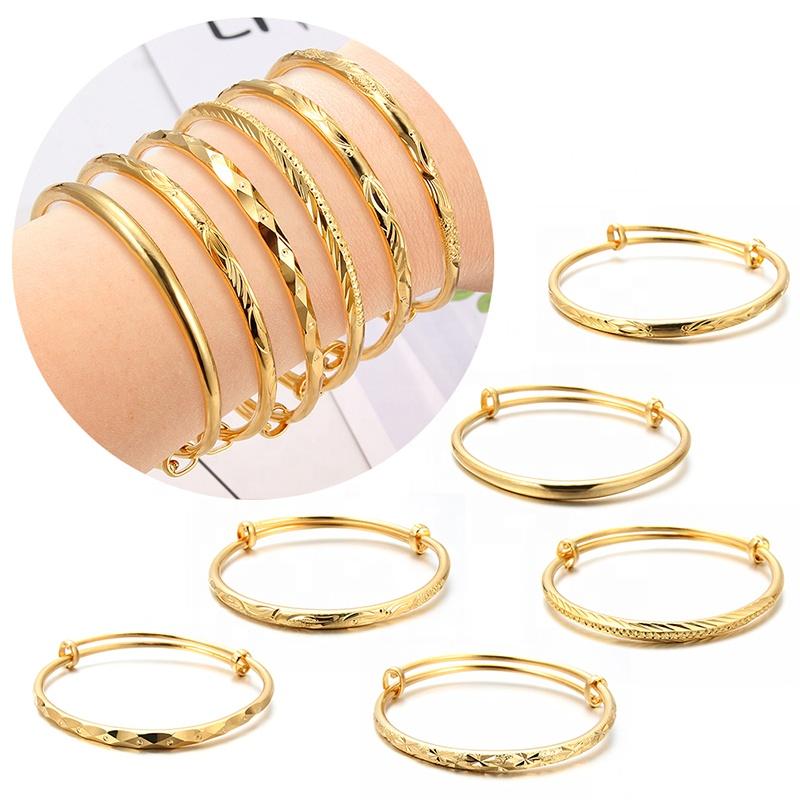 24k Or Couleur Bijoux Éthiopiens Bracelets Pour Femmes Dubaï Ramadan Bracelets et Bracelet Africain/Arabe Mariage bijoux Cadeau