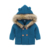 Newborn infant baby boy girls clothes top winter long sleeve knit hooded fur sweater kids outerwear