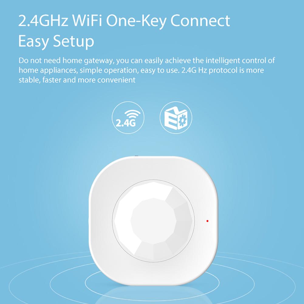 Tuya Smart APP Wireless Wifi Controlled PIR Motion Sensor