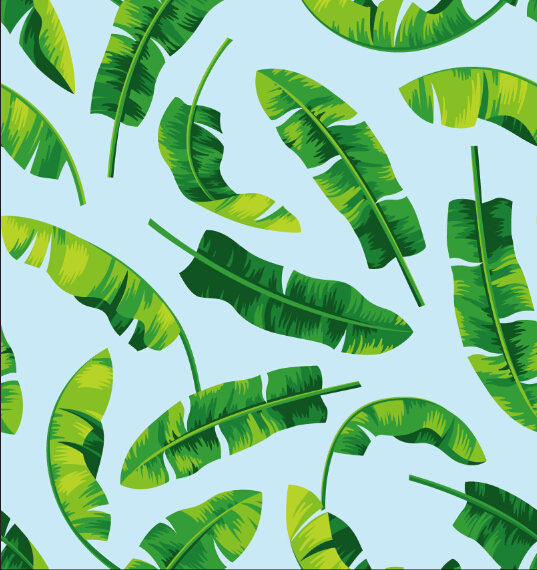 The factory outlet tropical pattern korean chiffon fabric digital printing for garment