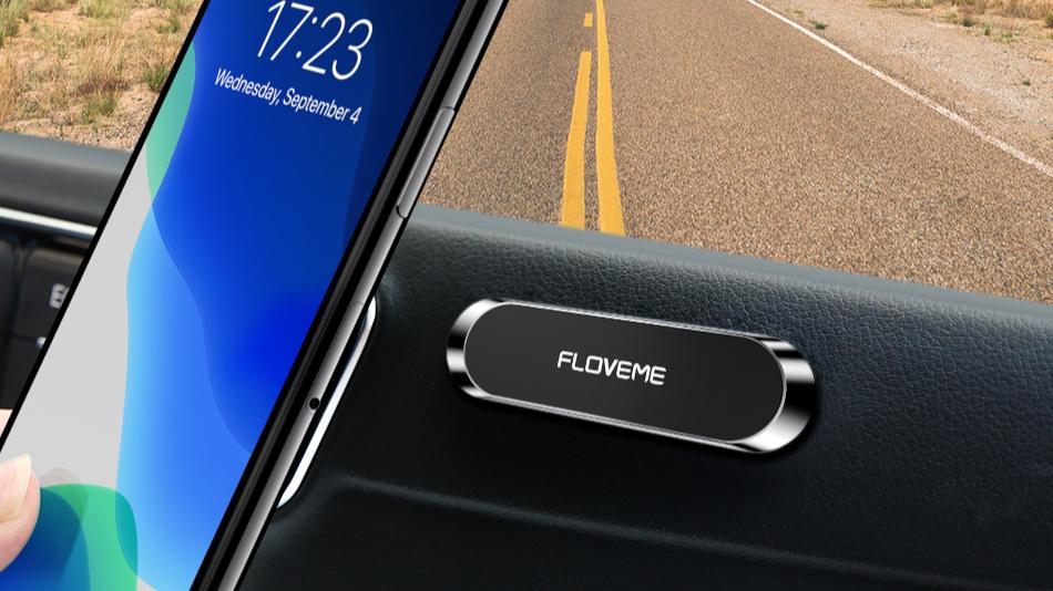 Бесплатная доставка, 1 образец, настенный держатель для телефона из цинкового сплава, FLOVEME, Многофункциональный магнитный автомобильный держатель для телефона на заказ