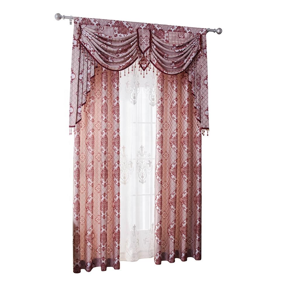 Jacquard curtain,2 Pieces, 4 colors