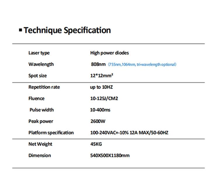 triple wavelength diode laser hair remove 808 / laser hair removal machine price / diode laser 808 hair removal machine