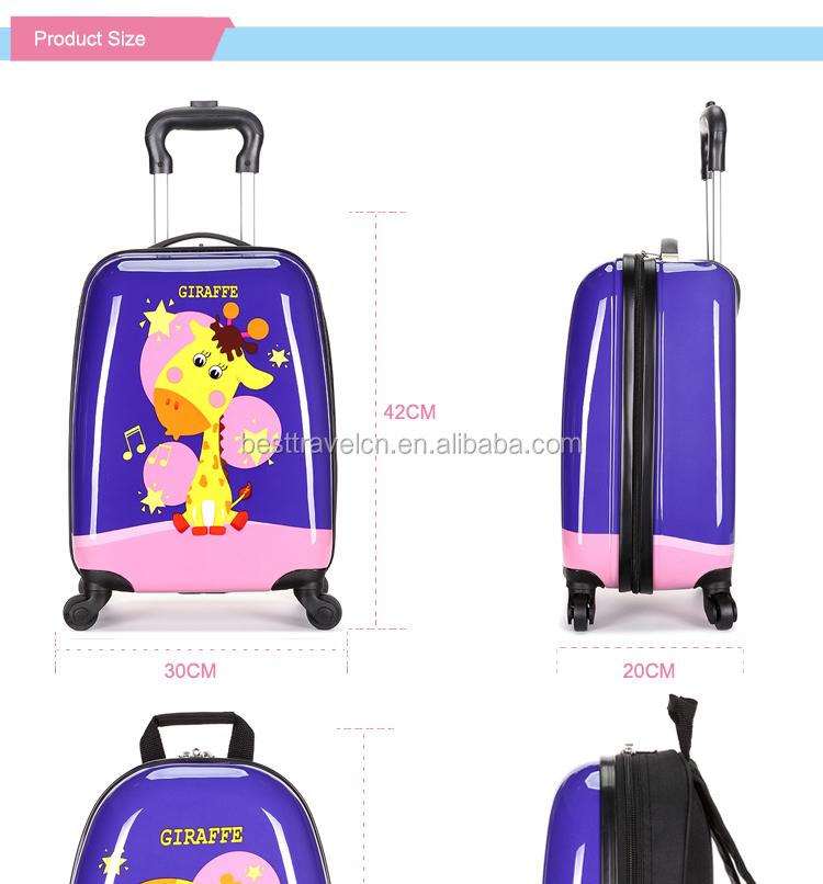 ABS Stampato Bagaglio A Mano Trolley Da Viaggio di Scuola Per Bambini Sacchetto Dei Bagagli Valigia per I Bambini