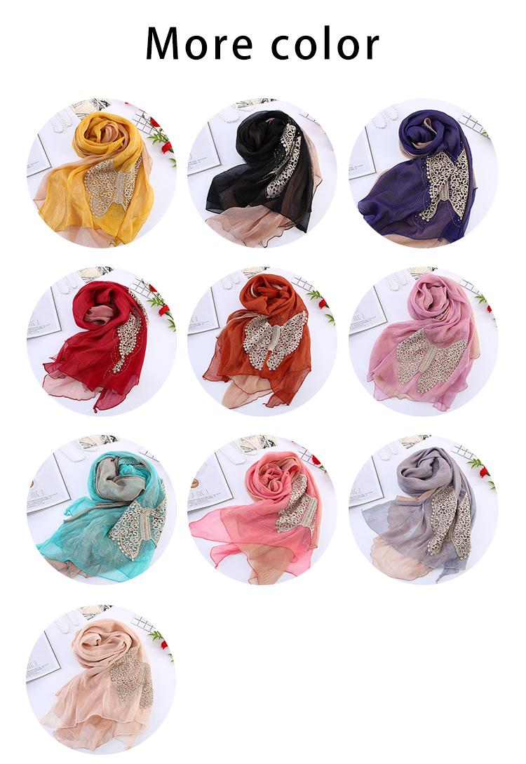 2020new Islamic wholesale dubai style double-deck square malaysian hijab chiffon