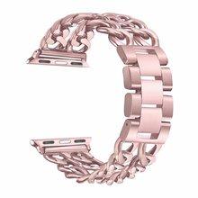 Браслет из нержавеющей стали для Apple Watch 1/2/3, 38 мм, 42 мм, металлический ремешок для iWatch 5/4/40/44 мм(Китай)
