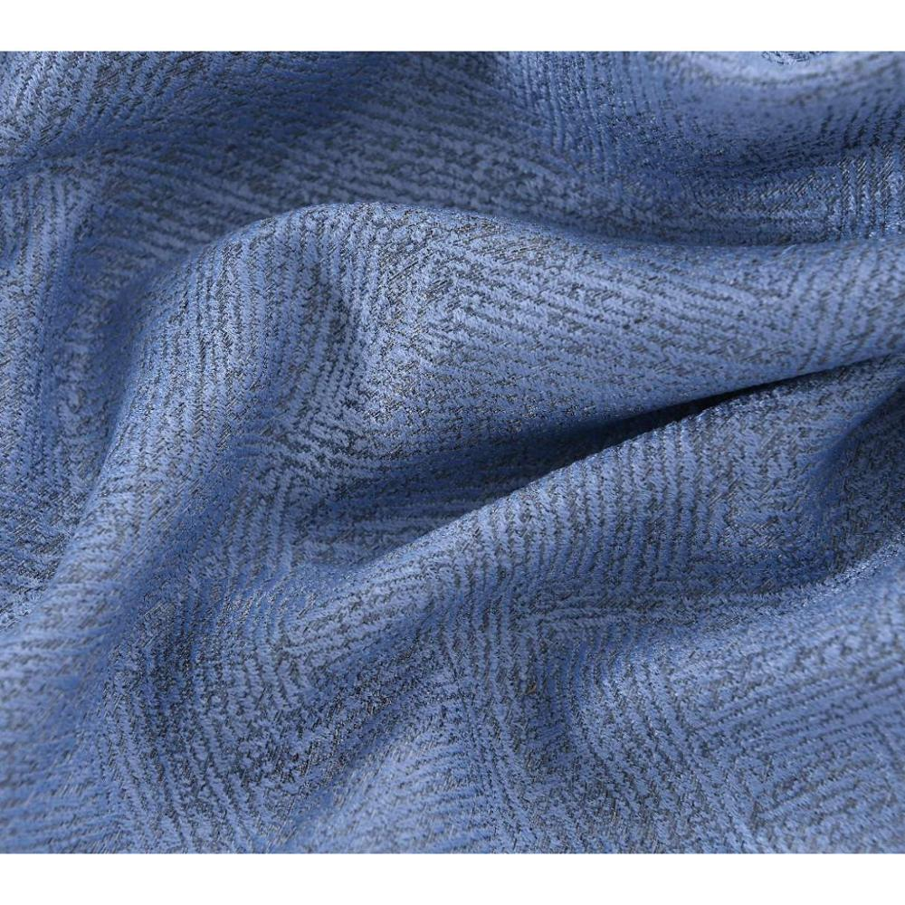 Chinese blue upholstery fabric curtain fabric
