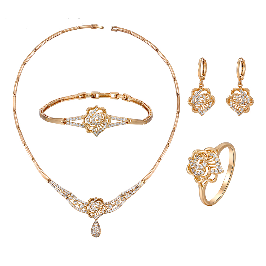 65801 Xuping's new elegant four-piece luxury set for women