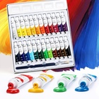 24 Colours Professional Artists' quality Acrylic Paint Set Canvas Painting for Beginners
