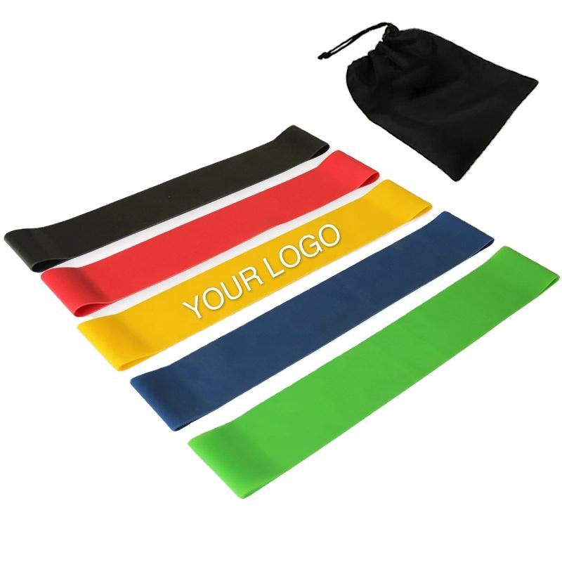 Sport Yoga Elastic Mini Hip Strength Custom Fitness Soft Latex Exercise Resistance Fitness Loop Band Set