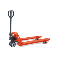 Red Polyurethane tyres 5500lbs capacity hand pallet truck