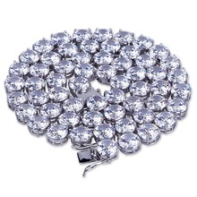 En Acier inoxydable 8mm Iced Out <span class=keywords><strong>Bling</strong></span> 3A Zircon 1 Rangée Tennis Chaîne Collier Hommes Hip-Hop <span class=keywords><strong>Bijoux</strong></span> Or Argent Rose <span class=keywords><strong>bijoux</strong></span> en or