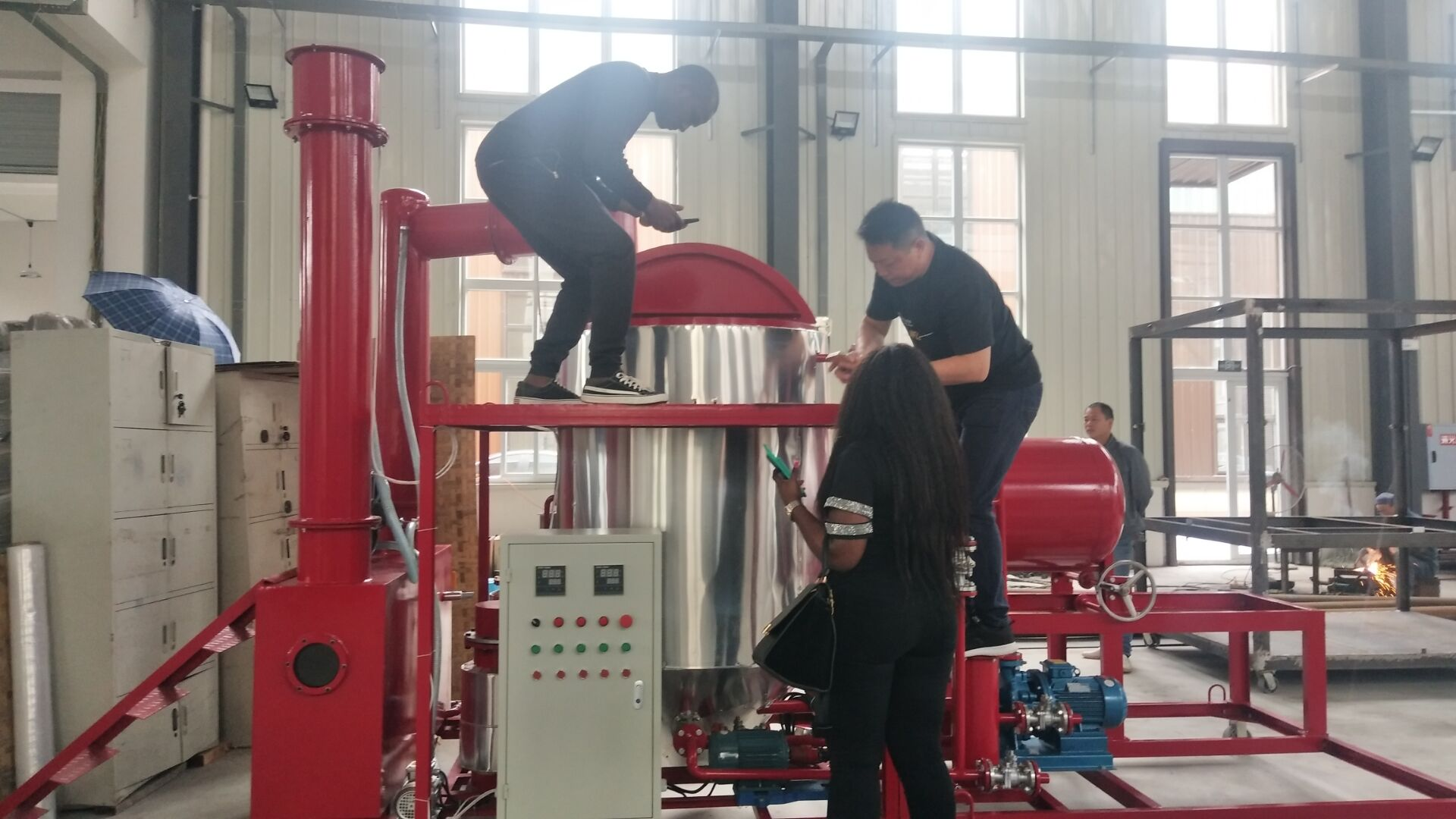 Used Engine oil purifying equipment/refining of used motor oils/waste oil to base oil recycling plant
