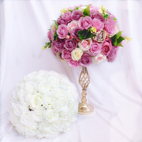 Factory Direct Sale Table Centerpiece Rose Kissing Flower Ball For Wedding Arrangement