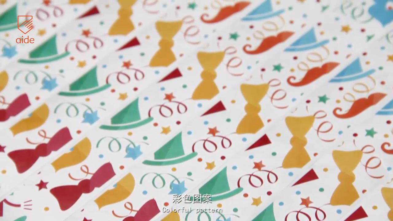 هدية الكريسماس مرة واحدة استخدام ورقة العصابات الحرة مخصص رخيصة النافثة للحبر للطباعة التحكم معصمه تايفك