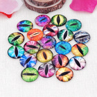 Eye pattern round lucent glass cabochon in various sizes and designs eye series