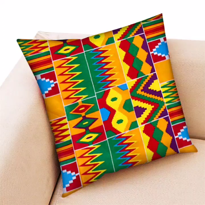 Wholesale african kente cloth fabric prints 6 yards real wax  for sofa fabric hitarget wax fabric SS-P110