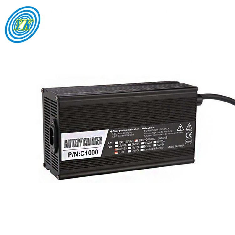 60v 12a 1000w caricabatteria portatile con Display A LED