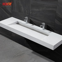 KKR solid surface rectangular wall hung basin wall mounted bathroom sink