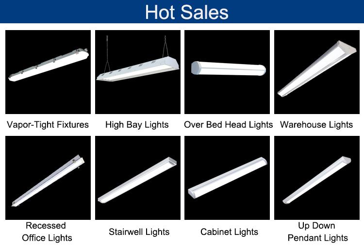 Nhà máy giá 100-277 V IP40 có thể kết nối led ống ánh sáng cơ thể nhôm tấm, ván sàn đèn Lên và xuống chiếu sáng kho led tuyến tính ánh sáng