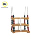 Modern baby wooden indoor swing with adjustable ropes