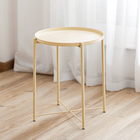 2020 latest design living room furniture wholesale multi-color optional simple small modern round center coffee side table