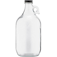 Gaya Baru Jelas Growler 2L Bir <span class=keywords><strong>Botol</strong></span> Kaca California Wine Bottle With Handle