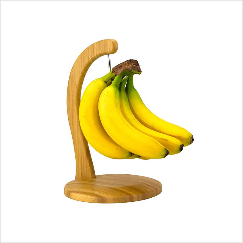 Edelstahl Metalldraht Obstschale mit Bananenaufhänger Baum Haken