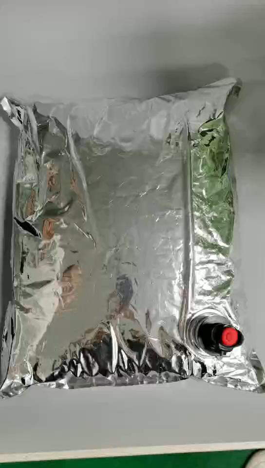 BIB bag in box aseptic 1L 2L 3L 5L  leakproof aluminum foil red wine bag water fruit juice coffee wine empty plastic bag in box