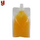 Juice Spout Pouch Special Shaped Plastic Clear Fruit Juice Spout Pouch Bag