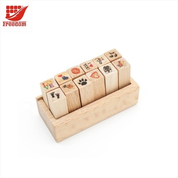 Custom Wooden Rubber Stamp for Card Making DIY