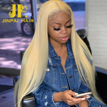 JP Natural Lace Front Wig 613 Blonde Human Hair Wigs, HD full lace wig with baby hair, Virgin Hair Wigs For Black Women