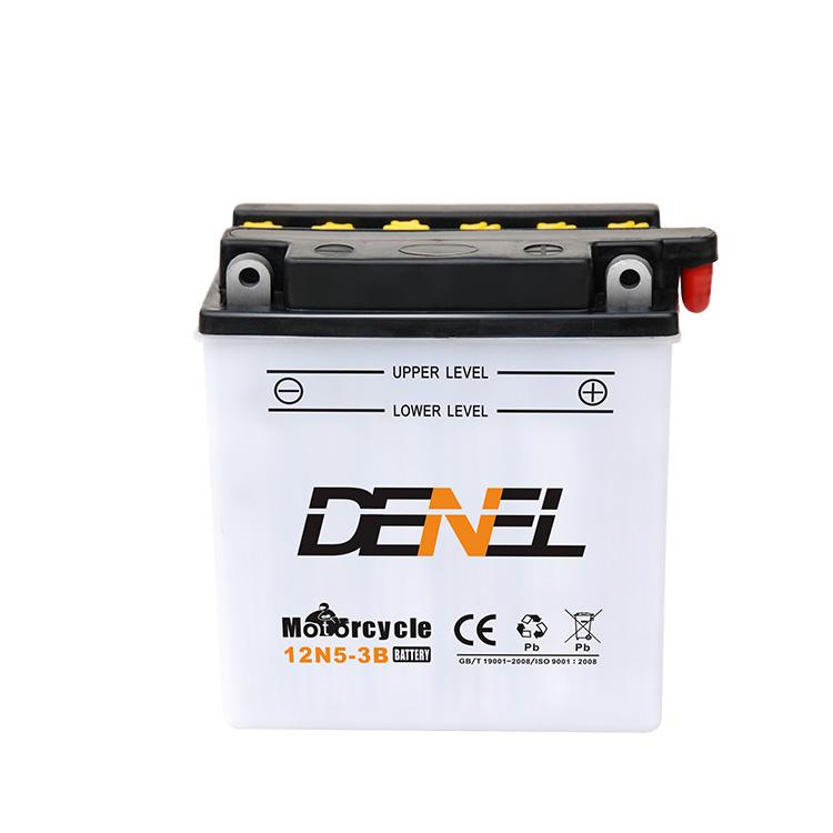12V 5AH Motorcycle Parts 12N5-3B Starter Battery
