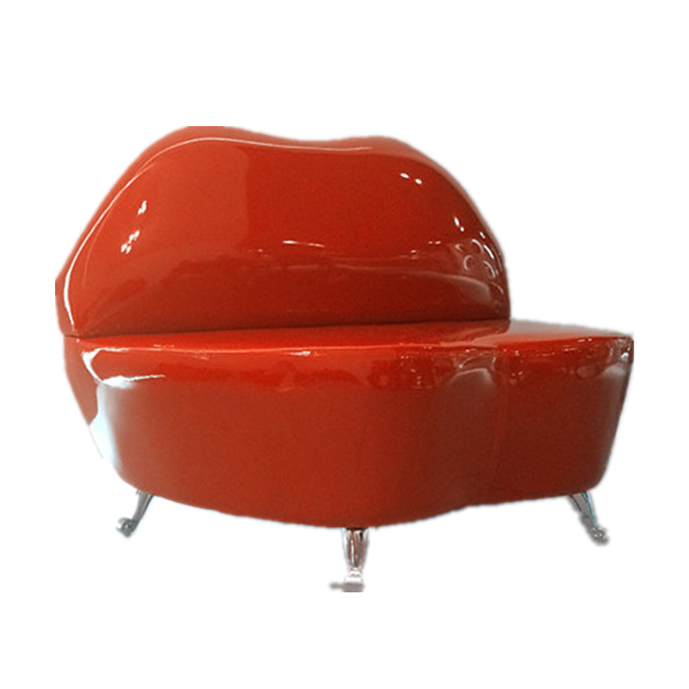 Genuine Leather Sofa Glossy Lips