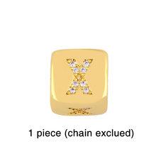 Черный браслет для мужчин с золотыми буквами и бусинами 2020 CZ кубические ювелирные изделия с цирконием DIY очаровательные веревочные браслет...(Китай)