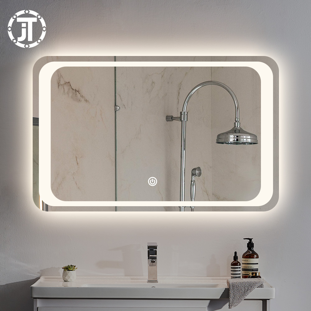 Hot Sell Decorative Bluetooth Speaker Led Backlit Bath Smart Mirrors With Light For Barber Shop