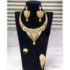 Set-5 xuping indian gold plated jewelry, zirconia jewelry bridal set, necklace set women jewelry