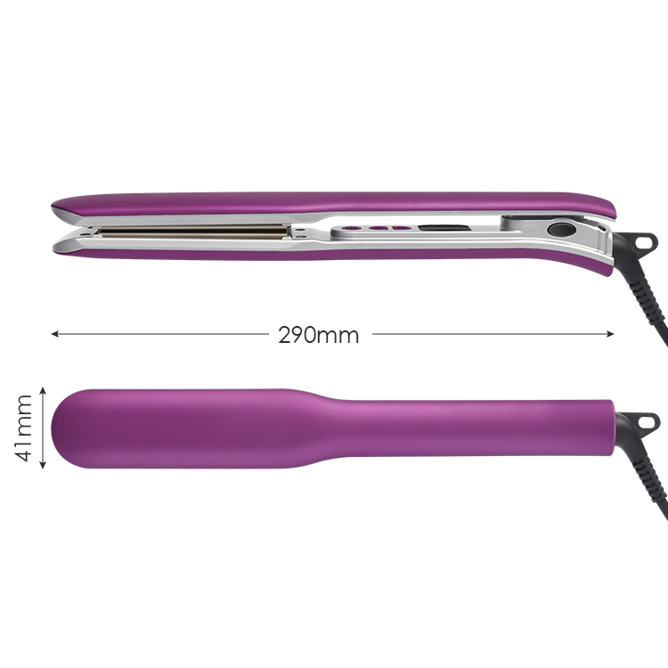 Professional Best Infrared <strong>Hair</strong> Steam Flat Irons Heating Straightener <strong>Hair</strong> Care Ceramic <strong>Straightening</strong> Iron Fast Straightener